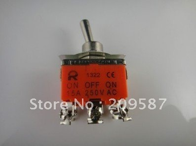 5pcs 6-Pin Industrial Toggle Switches 15A 250V