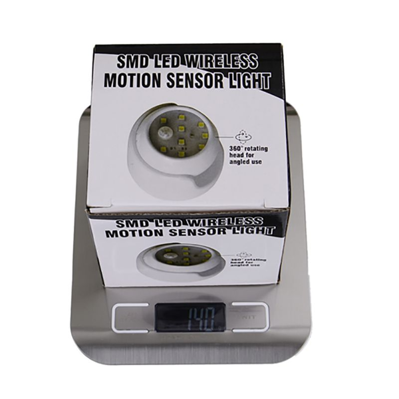 Bezpieczeństwo 9 LED Led Motion Sensor Lampka nocna Obrót o 360 - Lampki nocne - Zdjęcie 4