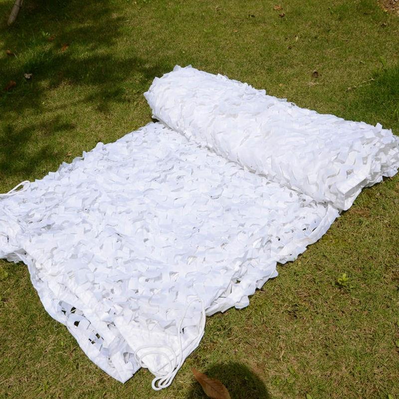 LOOGU EM 2 m * 3 m Blanc Filets de Camouflage Neige Camo Filet Pare Soleil Blanc Camo Filet Décoration de Neige Blanc camo Net dans Abri du soleil de Sports et loisirs