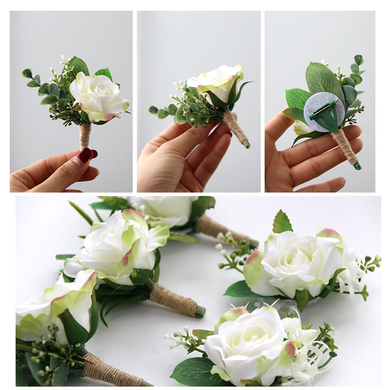 wedding decoration mariage rose wrist corsages