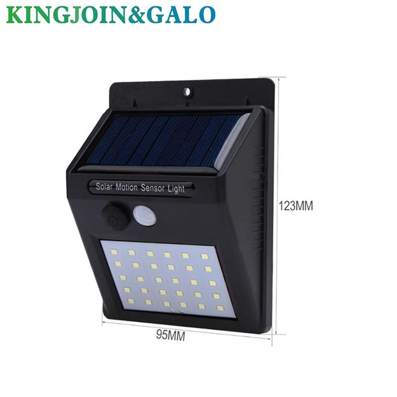 30 LED Solar Power Lamp PIR Motion Sensor Wall Light Outdoor Waterproof Energy Saving Street Garden Yard Security Lamp
