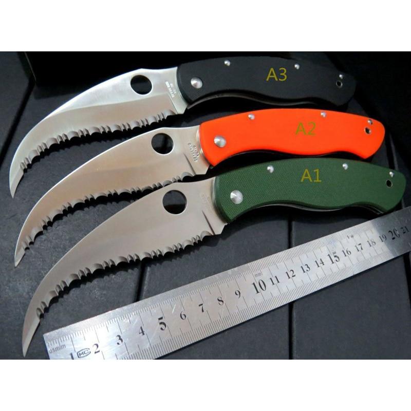 GP Spy Civilian C12 GS folding font b knife b font VG10 steel G10 handle font