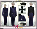 Anime APH Axis Powers Hetalia Prussia Military Uniform Cosplay Halloween Party Costume Custom-made