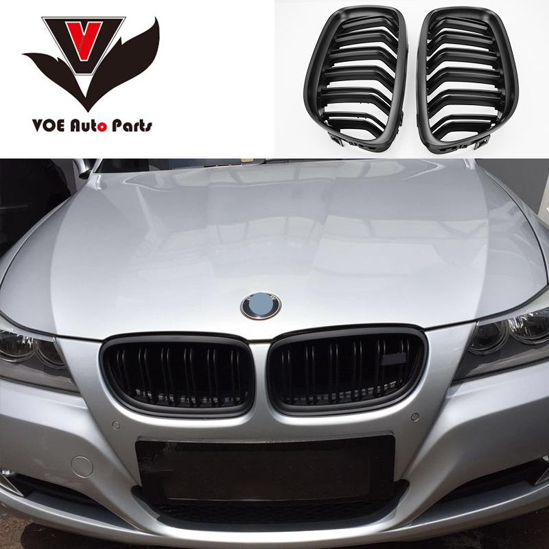 E90 LCI ABS Matte Black M3-style Front Racing Grill Grille for BMW 3 Series 2009-2012 E90 E91 (not fit for E90 M3) image