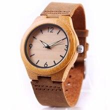 Bamboe Hout Horloge Vrouwen Horloges Dames Klok Lederen Horlogeband Polshorloge Luxe Merk Relogio Femininos 2020 Quartz Horloge