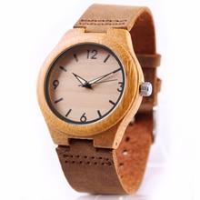 대나무 우드 시계 여성 시계 숙녀 시계 가죽 손목 시계 손목 시계 Luxury Brand relogio femininos 2020 Quartz Watch