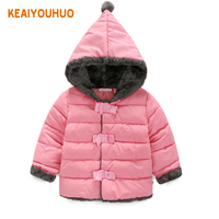 Baby Girls Clothes Children Winter Long Sleeve Warm Jacket Outwear Girls Cotton Padded Outwear Baby Girls
