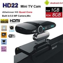 HD22 Android 4.4 TV BOX with 5.0MP Camera Allwinner H3 Quad Core 1G 8G HD23 EU3000 Smart Mini PC WIFI Google IPTV XBMC 1080P