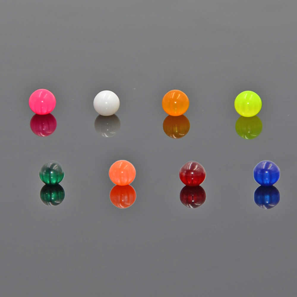 BOG-Acrylic Opal Pearl Round Ball Replacement Bead 14/16G Screw Lip Eyebrow Tongue Belly Body Piercing Parts Replacements