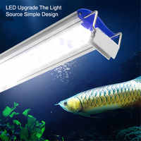 AC 110 V-220 V akvaryum ışığı Ultra Ince akvaryum LED ışıkları 12-24 W LED Tepegöz Akvaryum Su Bitki Büyüme Işığı 6000-7500 K