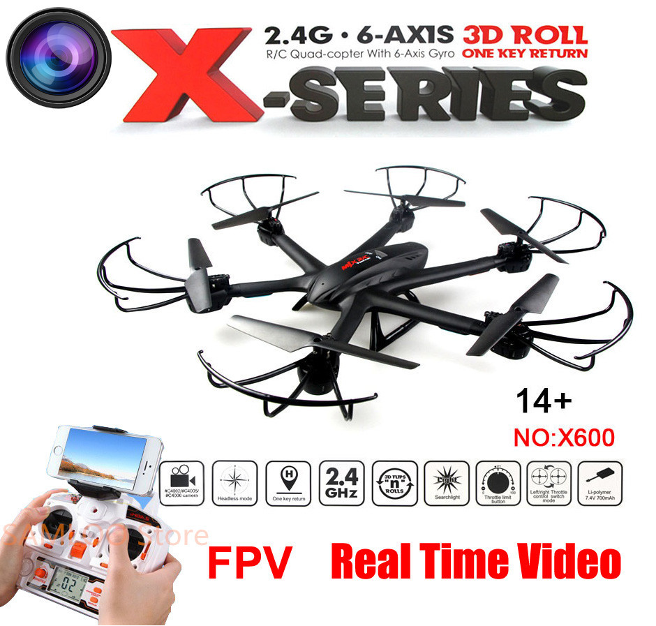 FPV WiFi Real Time Video Transmission MJX X600 RC Drone With HD Camera 2.4G RC Helicopter Quadcopter Headless One-Key Return jjrc h8d 2 4ghz rc drone headless mode one key return 5 8g fpv rc quadcopter with 2 0mp camera real time lcd screen s15853