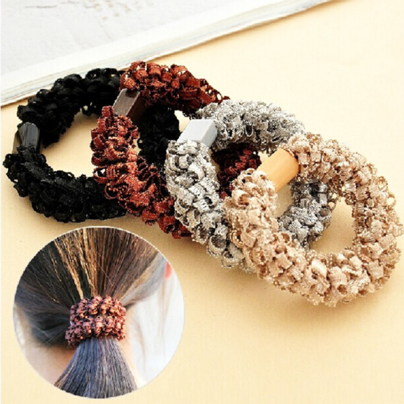 4pcs/lot Women Ultra Elastic Headband Hairband Ladies Braided Scrunchie Hair Rope Rubber Band Girls Hair Accessories metting joura vintage bohemian green mixed color flower satin cross ethnic fabric elastic turban headband hair accessories