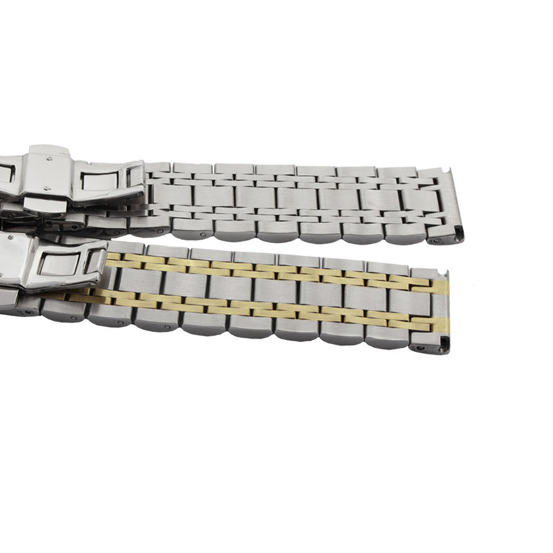 14 16 18 19 20 21 22 24 26mm sølv tofarvet 316L massivt rustfrit - Tilbehør til ure - Foto 6