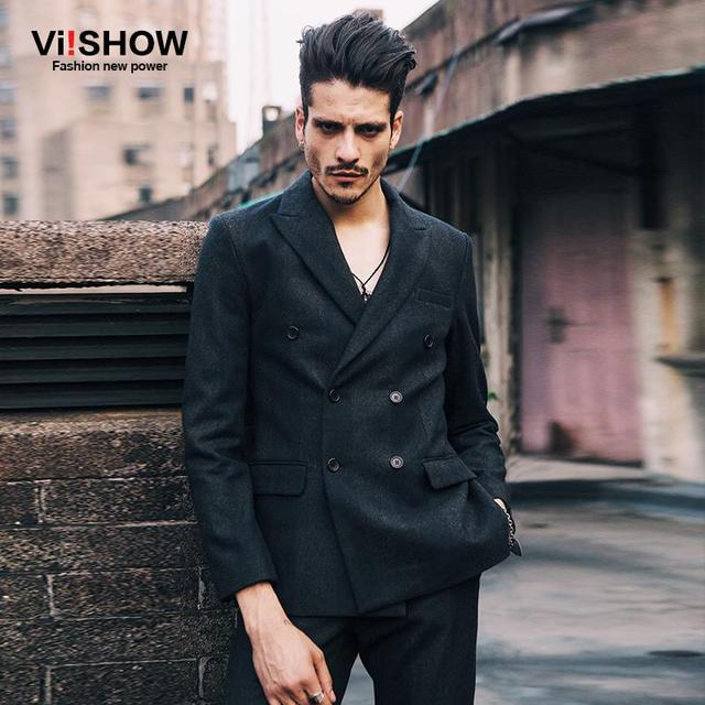 Aliexpress.com : Buy Viishow Winter Blazer Men Double Breasted
