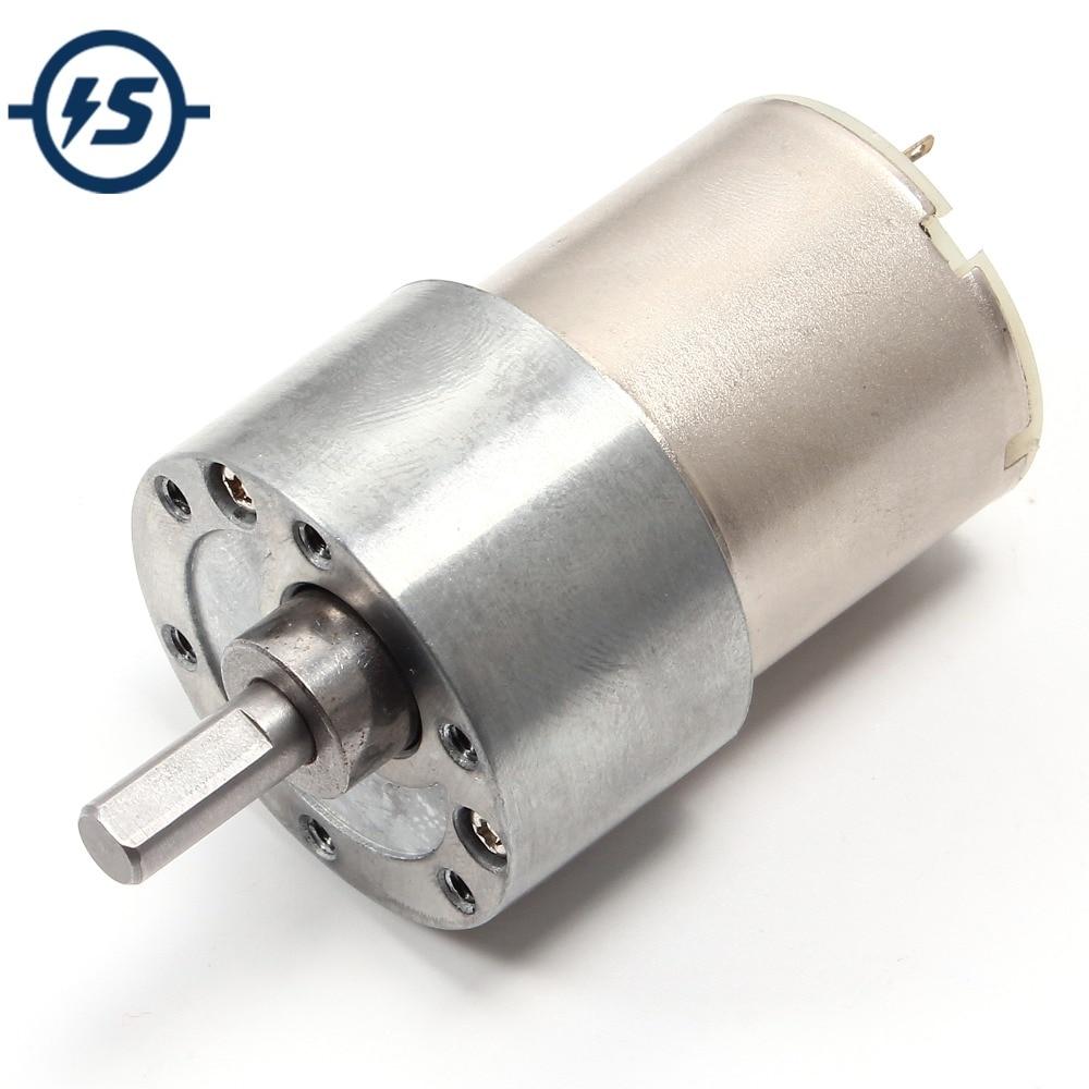 200RPM DC 12V Gear Motor High Torque Electric Gear Reduction Motor Outer Diameter 20MM Full Metal Reduction DC Gear Motors