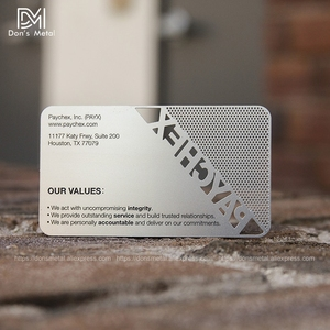 Image 4 - Hollow out  cut out stainless steel business card metal card design metal business card custom