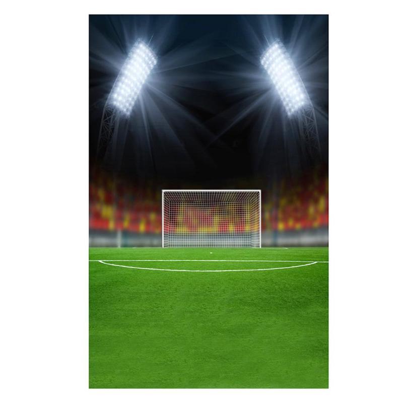 ALLOYSEED 3X5FT Vinyl Digital Spotlight Football Field Goal Photography Background Night Sparkling Backdrops Home Family Decor