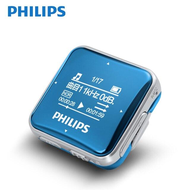 פיליפס SA2208 מקורי MP3 נגן 8 GB מיני קליפ ספורט MP3 גבוהה קול ברמת כניסה Lossless מוסיקה נגן עם FM אוזניות מסך