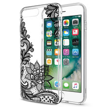 WeifaJK Luxury Lace Phone Case For iPhone 8 7 6 6s 5 5s SE Coque Flower Silicone Soft Cover For iPhone 6 6s 7 8 Plus Case Fundas