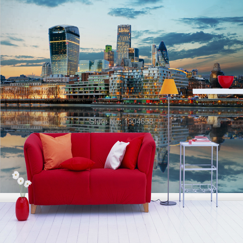 Free shipping custom wallpaper murals night scene of the city wall of large television background wallpaper mural Room Hotel
