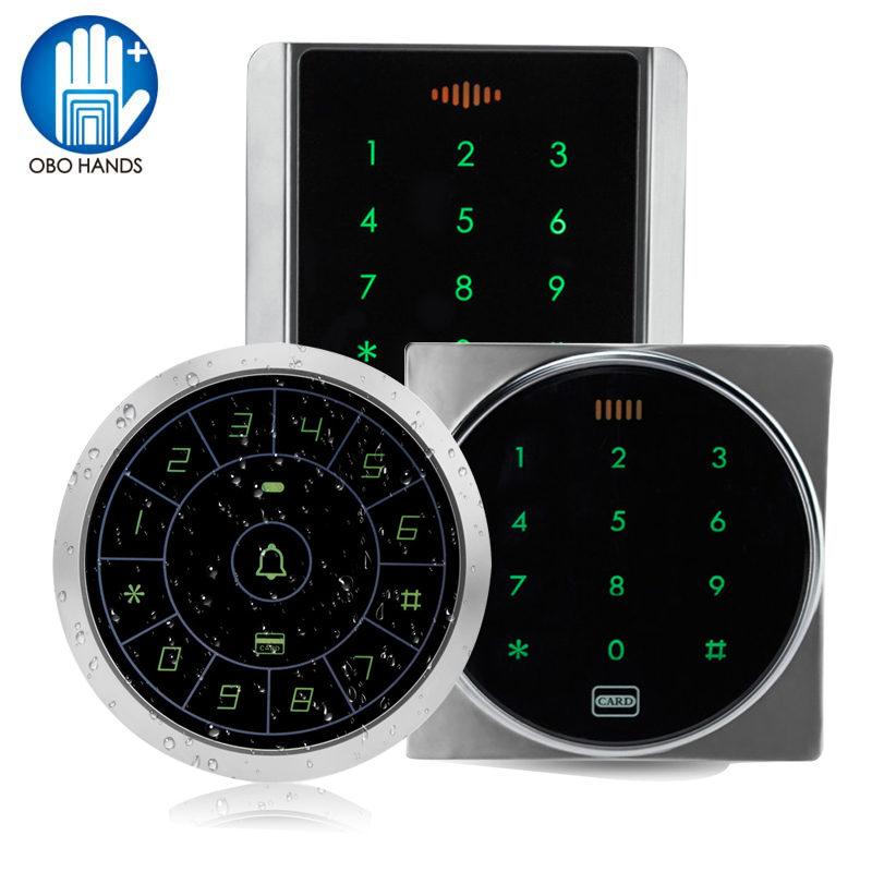 8000 Users Waterproof Metal Access Control Keypad RFID 125KHz Card Reader + 10 TK4100 RFID Keyfob, RFID Keychian, RFID Keyring rfid ip65 waterproof access control touch metal keypad standalone 125khz card reader for door access control system 8000 users
