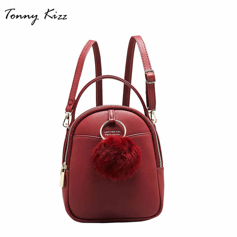 Tonny Kizz women backpack school bag for teenager girls fashion female  school bagpack small mini Crossbody e87961482cd99