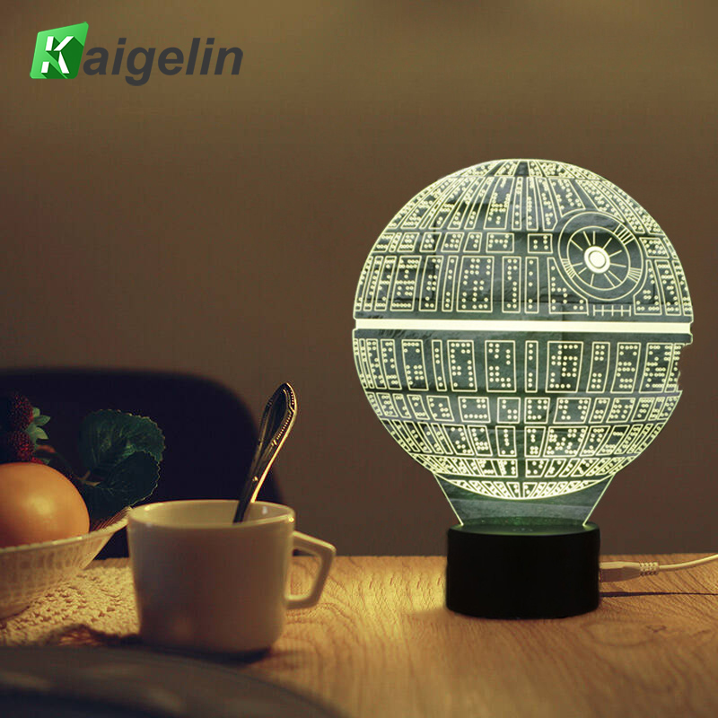 Lampu 3D Star Wars Led Night Light Novelty USB Lampu Meja Anak-anak Sensor Sentuh LED Lampu Meja 7 Warna Mengubah Lampu Lava Nightlight