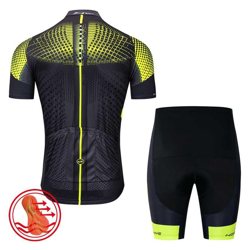 Cycling Equipment NW Summer Breathable Cycling Jersey Short Sleeve Cycling Clothing Bicycle Clothes Bib Shorts Set