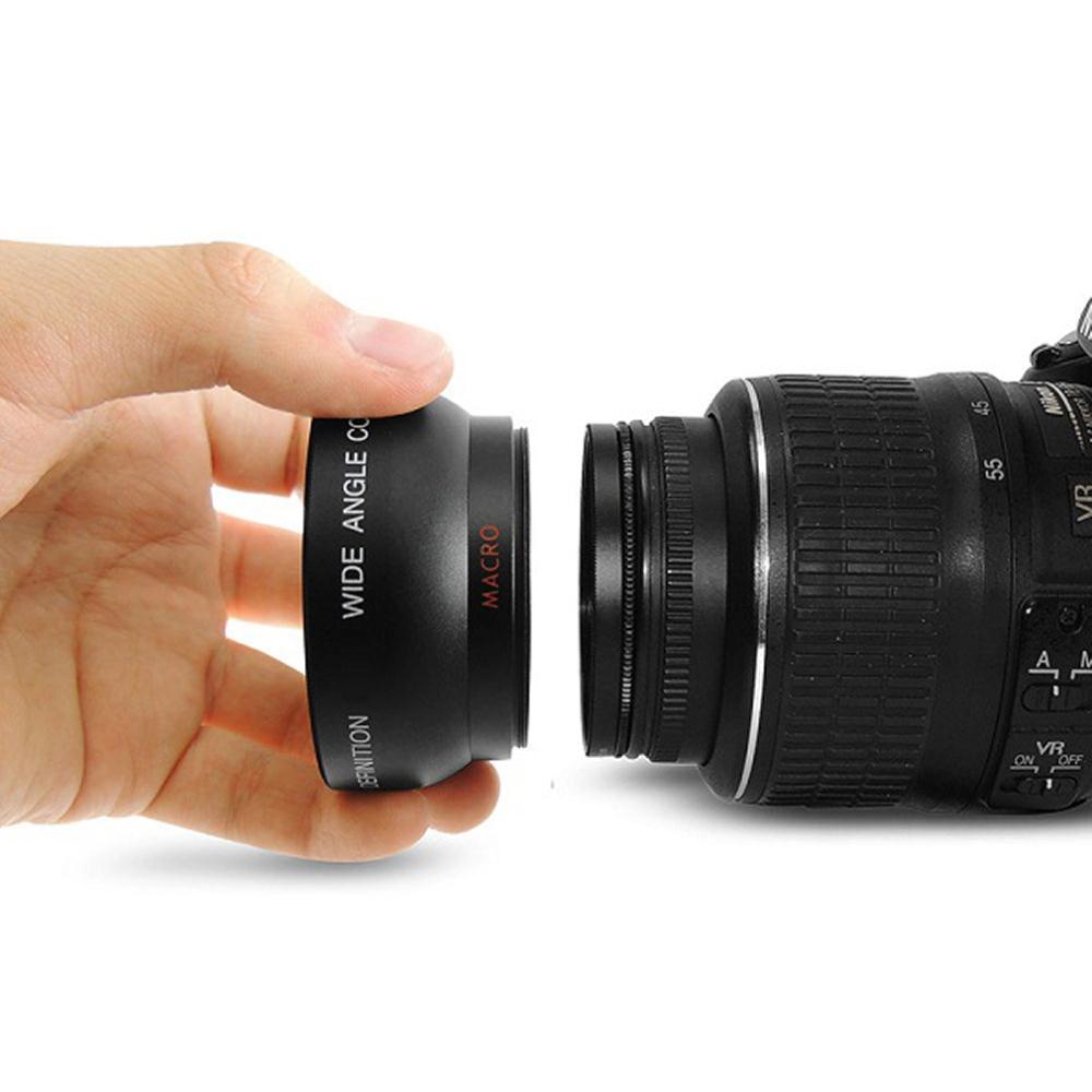 Nueva llegada 1 Unidades 52mm 0.45x lente macro gran angular para Nikon D3200 D3100 D5200 D5100 Alta Resolución macro la gota de la lente