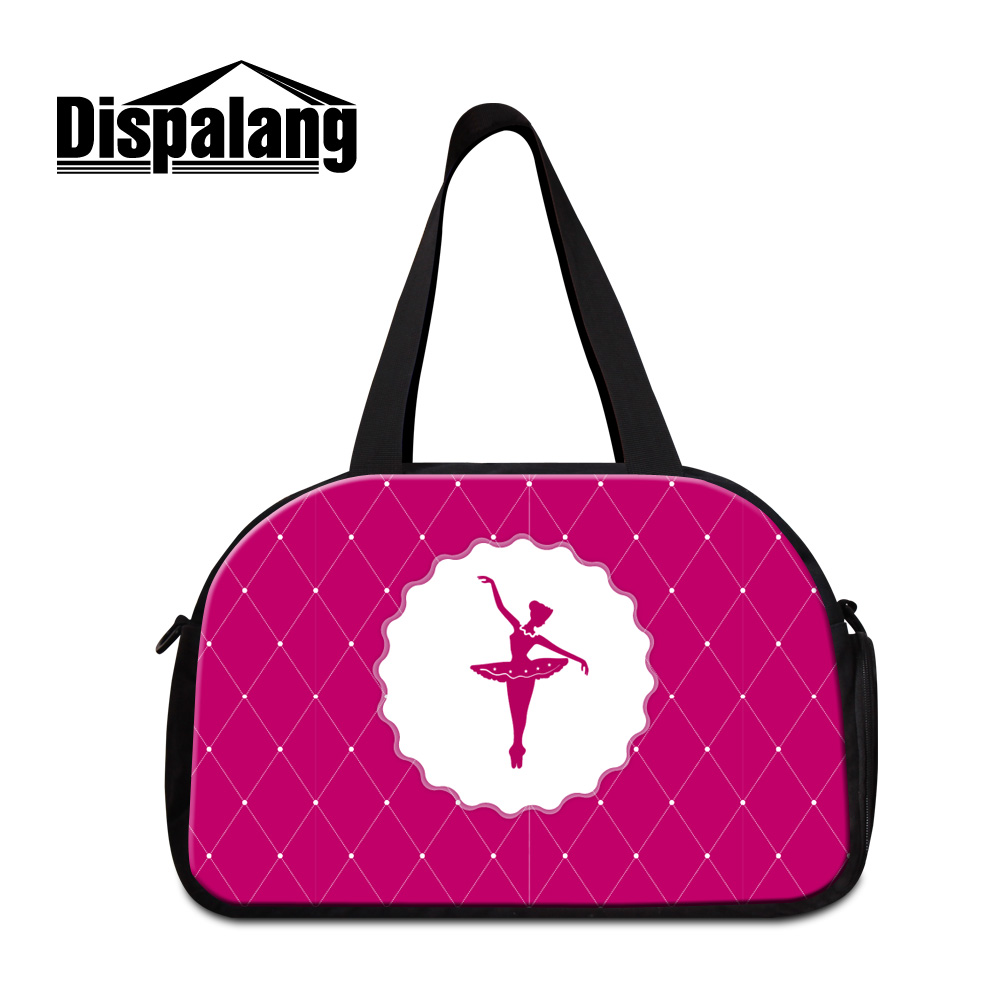 Dispalang new famale travelling bags cute ballet girl hand