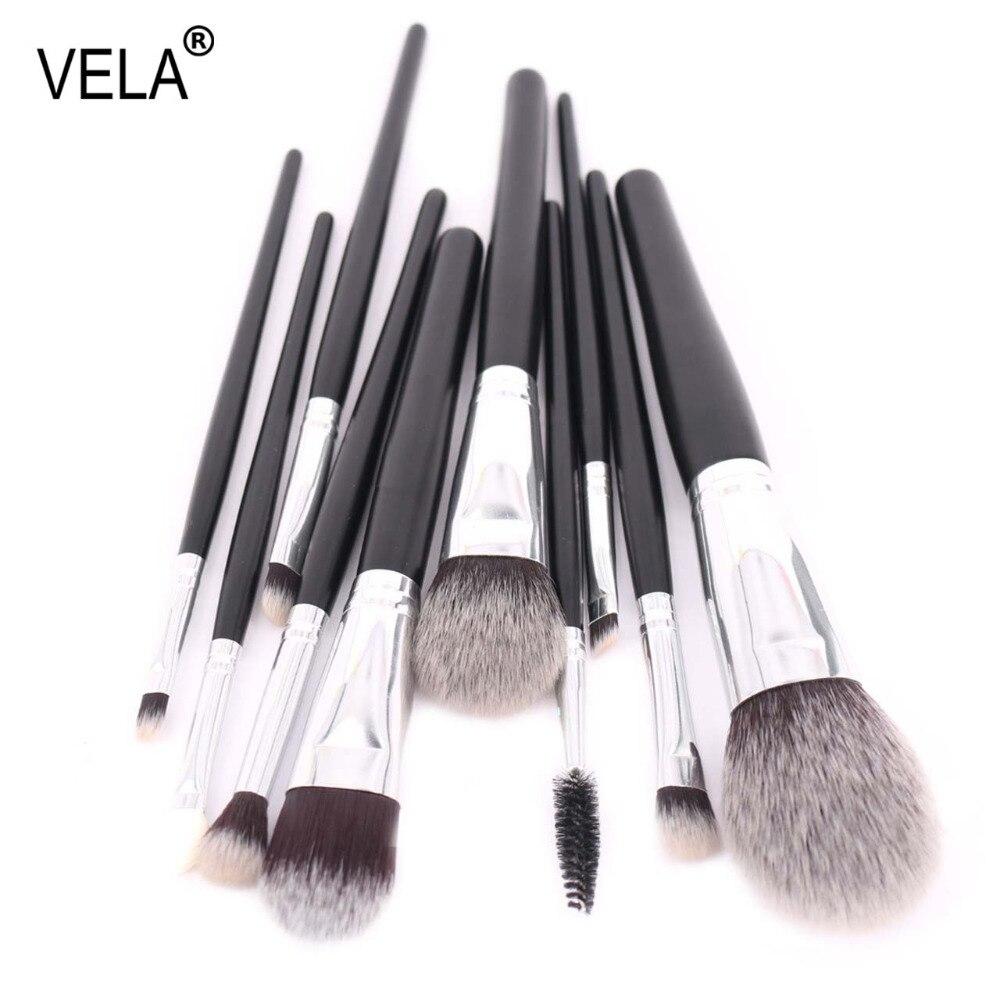 VELA Premium Makeup Brushes Set New Style Full Function Makeup Tools Kit вибромассажер рельефный vela розовый