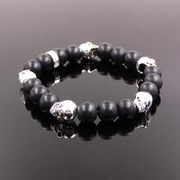 TMS High Quality Skull Beads And Black Bead Bracelet Rebel At Heart Collection Wholesale Super Deal