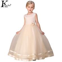 Vestidos Princess Girls Dress High Quality Sleeveless Christmas Dress Flowers Children Clothing Party Dresses Kids Wedding Dress