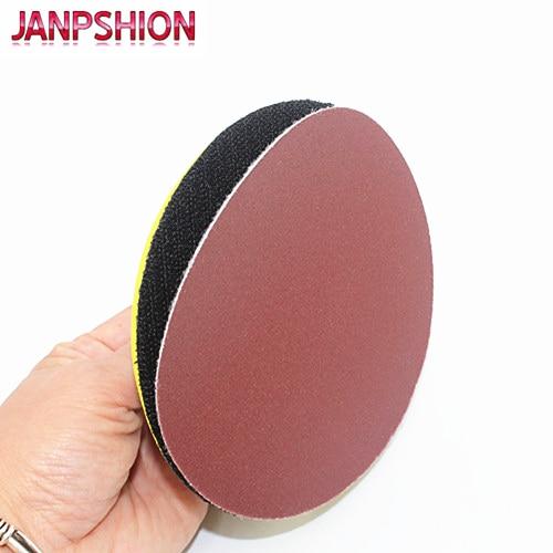 JANPSHION 40pc carta abrasiva rotonda rossa carta abrasiva per - Utensili abrasivi - Fotografia 5