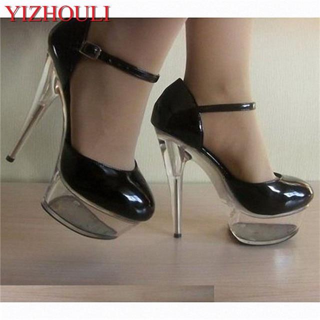 Women Custom Make Sandals 15cm Super Sexy Club Patent Leather Shoes 6 Inch  Crystal Platform High Heel Pumps