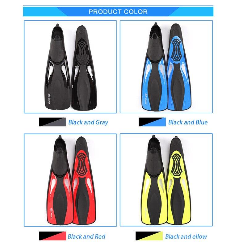Professionnel Palmes pour Adulte Flexible Confort Plage Natation Palmes 2018 Nouvelle Plongée Chaussures Avec Talon Sports Nautiques Accessoire