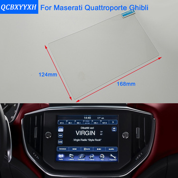 Car Styling GPS Navigation Screen Steel Glass Protective Film For Maserati Quattroporte Ghibli Control of LCD Screen Car Sticker image