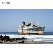 Yeele Old Ship Photography Backdrops Seaside Junk Landscape Photographic Backgrounds Wedding Photocall For The Photo Studio