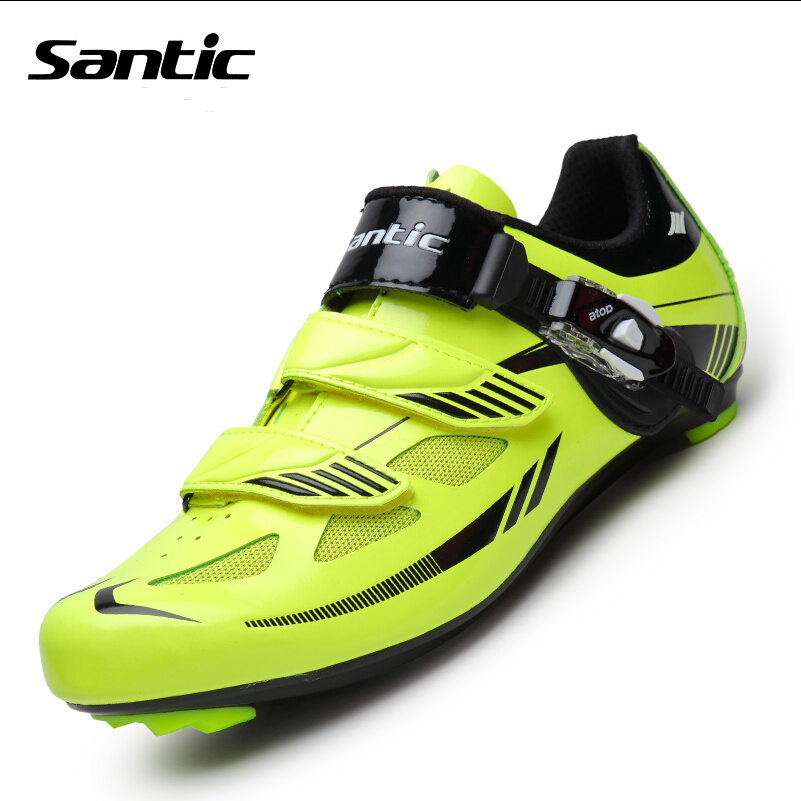 Santic Men Cycling Shoes Nylon TPU Breathable Locking Shoes Outdoor Waterproof Road Bike Shoes Sneakers For Bicycle Sports santic new design cycling shoes men outdoor road bike shoes self locking shoes non slip bicycle shoes sapatos with 3 colors