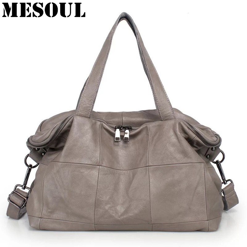Casual Designer Women Handbag Female Genuine Leather Bags Handbags Ladies Portable Big Shoulder Bag Office Ladies Hobos Bag Tote aosbos women shoulder bags multifunctional waterproof nylon handbag lady casual portable black tote bag female designer handbags
