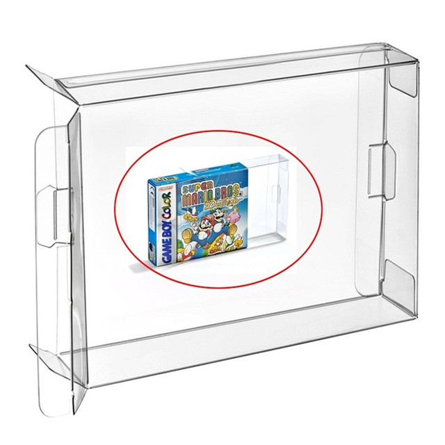 H 50pcs Carts Clear CIB Case Sleeve Box for Gameboy Color Advance GBA GBC Cartridge Protector
