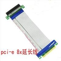 1PCS Brand NEW 8x PC PCI Expres PCI E Riser Card Extender Extension Ribbon Flex Relocate