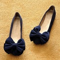 Spring And Autumn Students Scoop Shoes Flats Single Shoes Women Big Bowtie Knot Soft Bottom Flat Shoes Casual Women For 2017