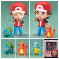 Pokemon Ash Ketchum Zenigame Nendoroid PVC Figura de Juguete Figura de Acción de Pokemon Bulbasaur Charmander Red Anime Modelo de Juguete de Colección