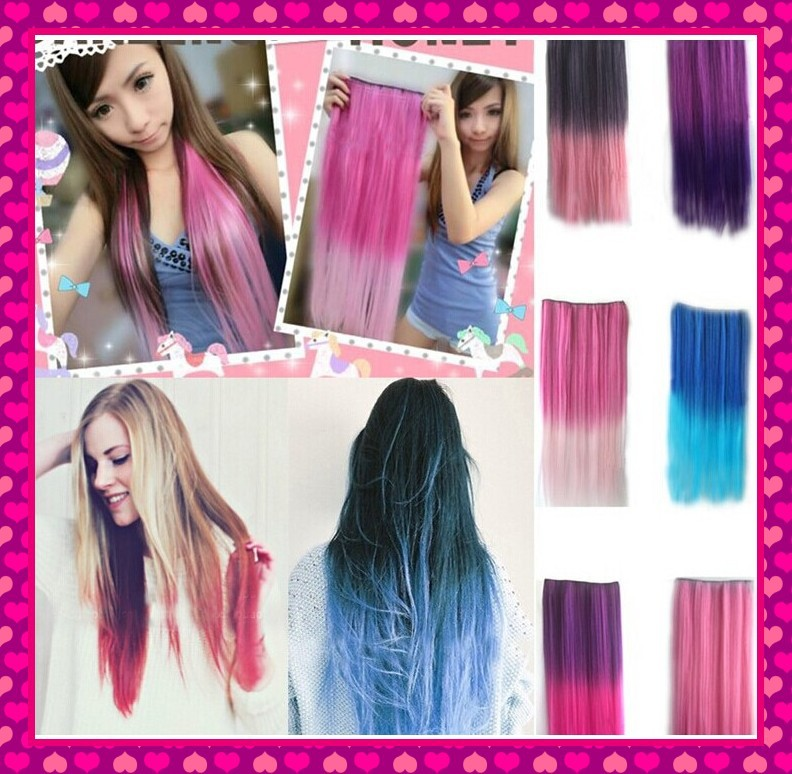 Cheap Wholesale New Fashion Sexy Ombre Hair Extensions For