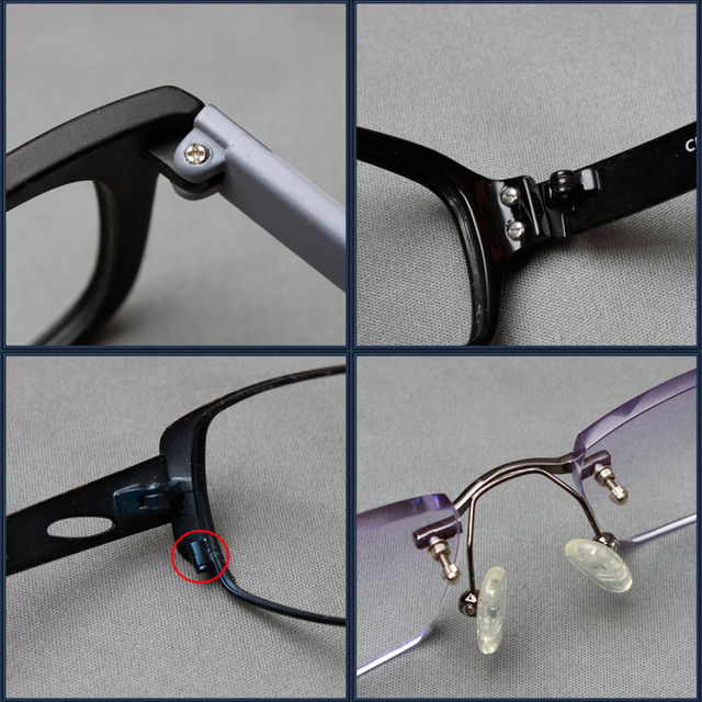 COLOUR_MAX Eyeglasses Sun Glasses Screws Sets Nuts Nose Pad Optical Repair Tool Parts Assorted Kit