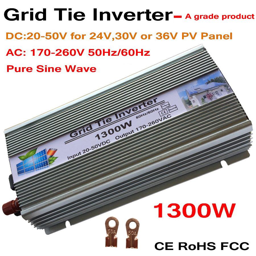 1300W Grid Tie Solar Inverter, 18V, 30V,36VDC, Max 1500W solar or wind power input, MPPT function, high quality, free shipping!!