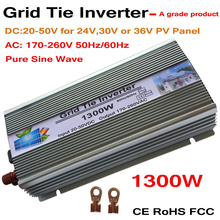 цена на 1300W Grid Tie Solar Inverter, 18V, 30V,36VDC, Max 1500W solar or wind power input, MPPT function, high quality, free shipping!!