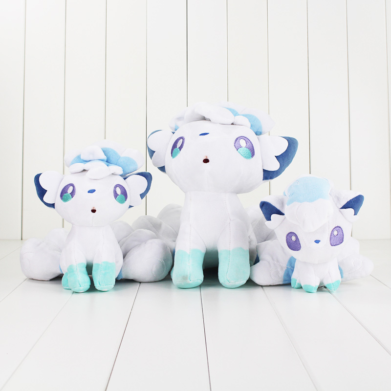 3Style Japan AnimeToys White Alola Vulpix PP Cotton Stuffed Animals Plush Toys Gifts
