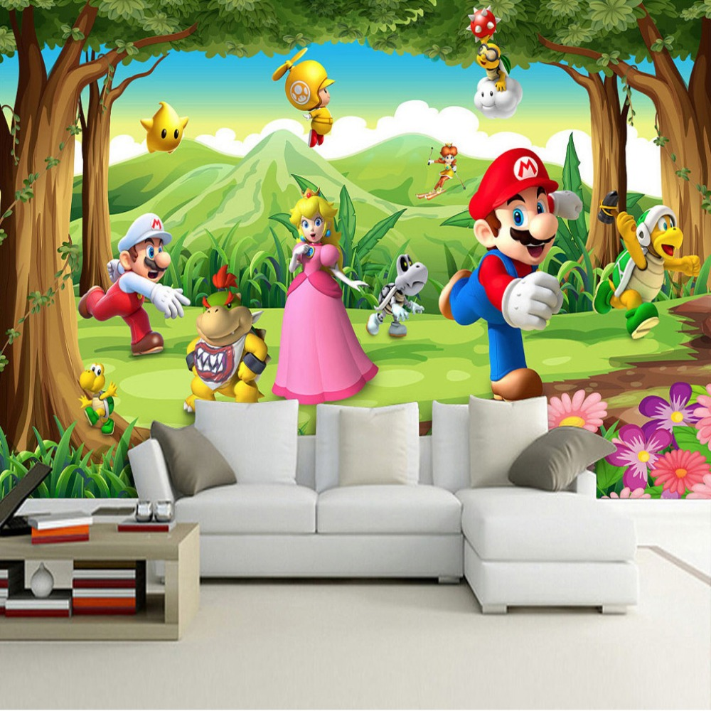 Popular friendly cartoon characters buy cheap friendly for Children s mural wallpaper